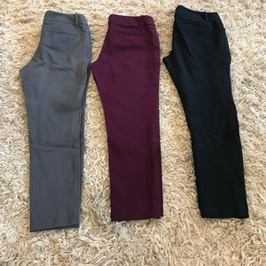 Lot of three ladies cropped Mossimo pants. Size 6.
